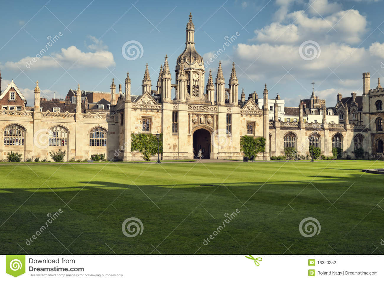 Download King`s College, Cambridge stock photo. Image of lawn - 16320252