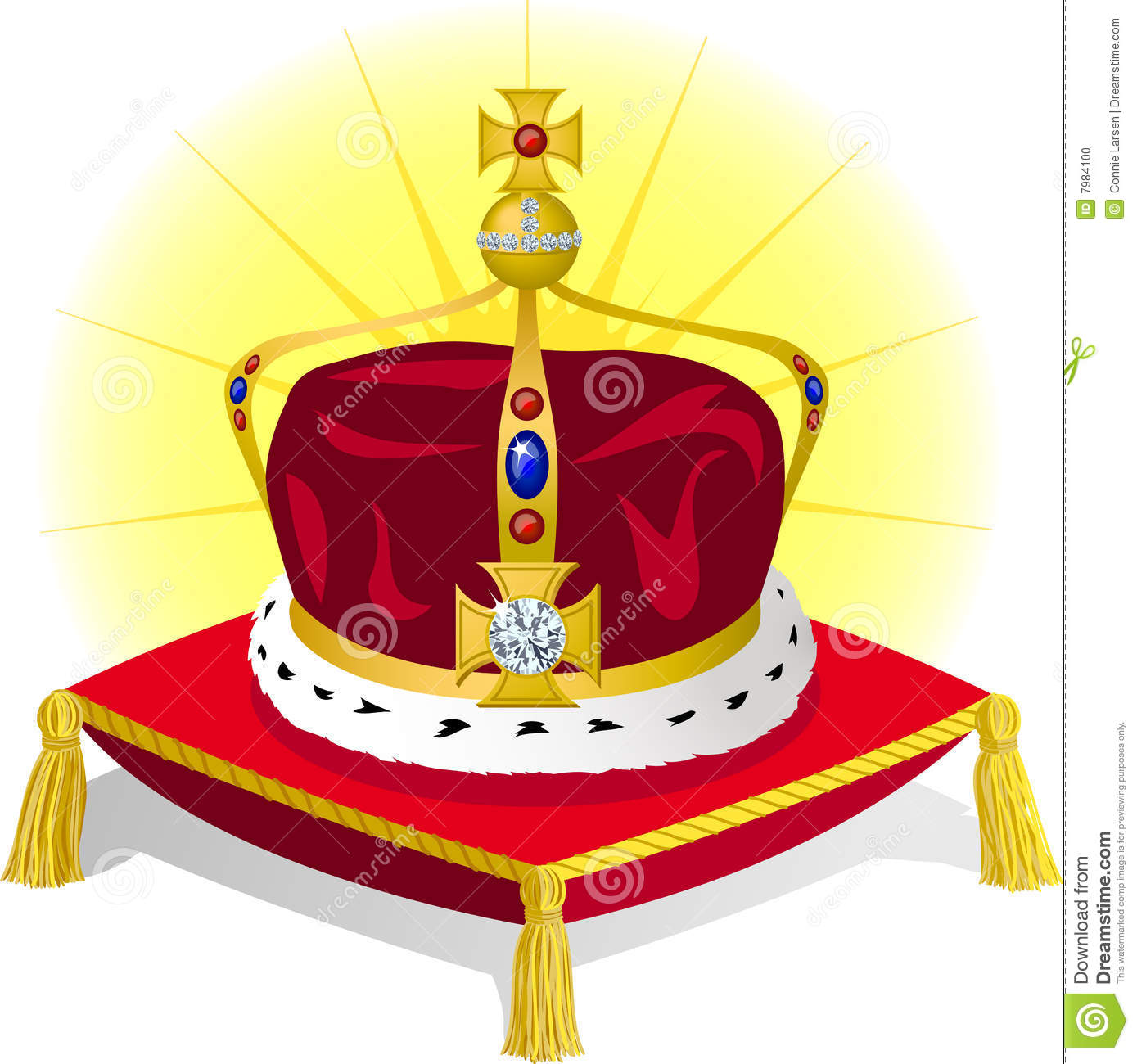 King S Crown On Pillow Eps Stock Photo Image 7984100