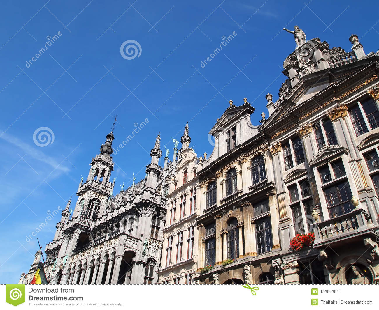 king 39 s house grand place at brussels belgium stock photos image 18389383. Black Bedroom Furniture Sets. Home Design Ideas