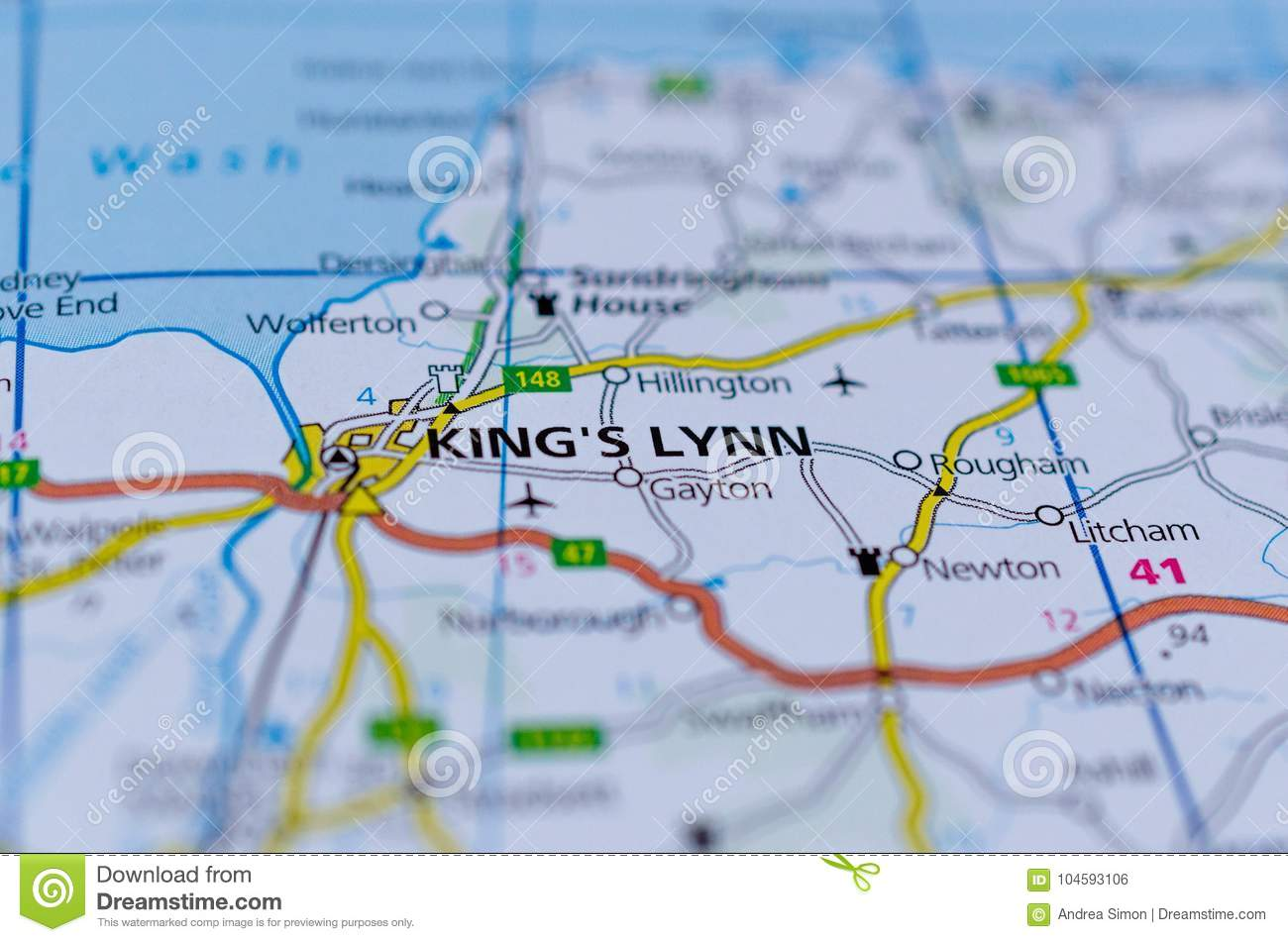 King`s Lynn on map