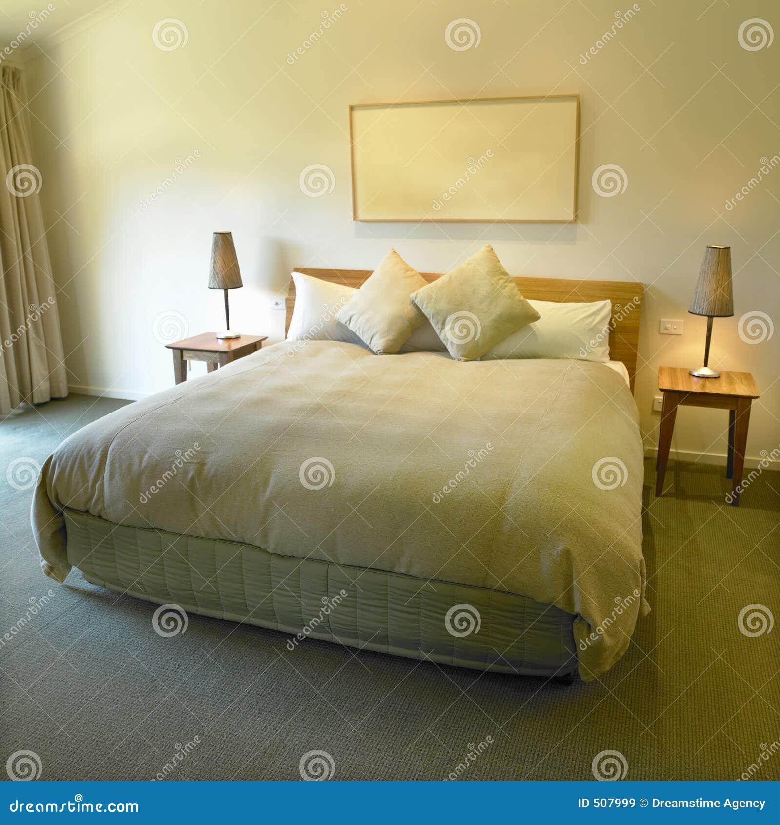 king size bed stock image image of light house modern 507999. Black Bedroom Furniture Sets. Home Design Ideas