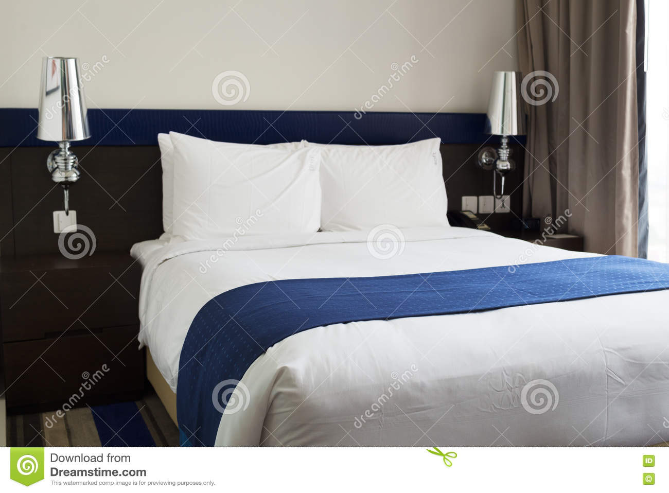 King size bed stock image image of size guest luxury for Guest room bed size