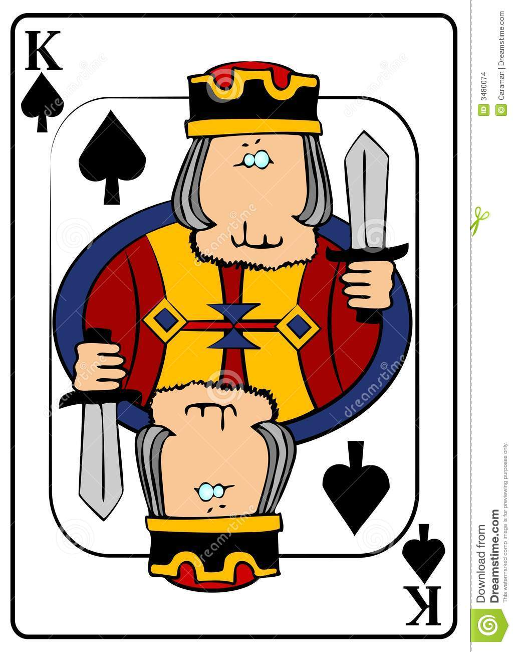 King Of Spades Stock Illustration Illustration Of Suit 3480074