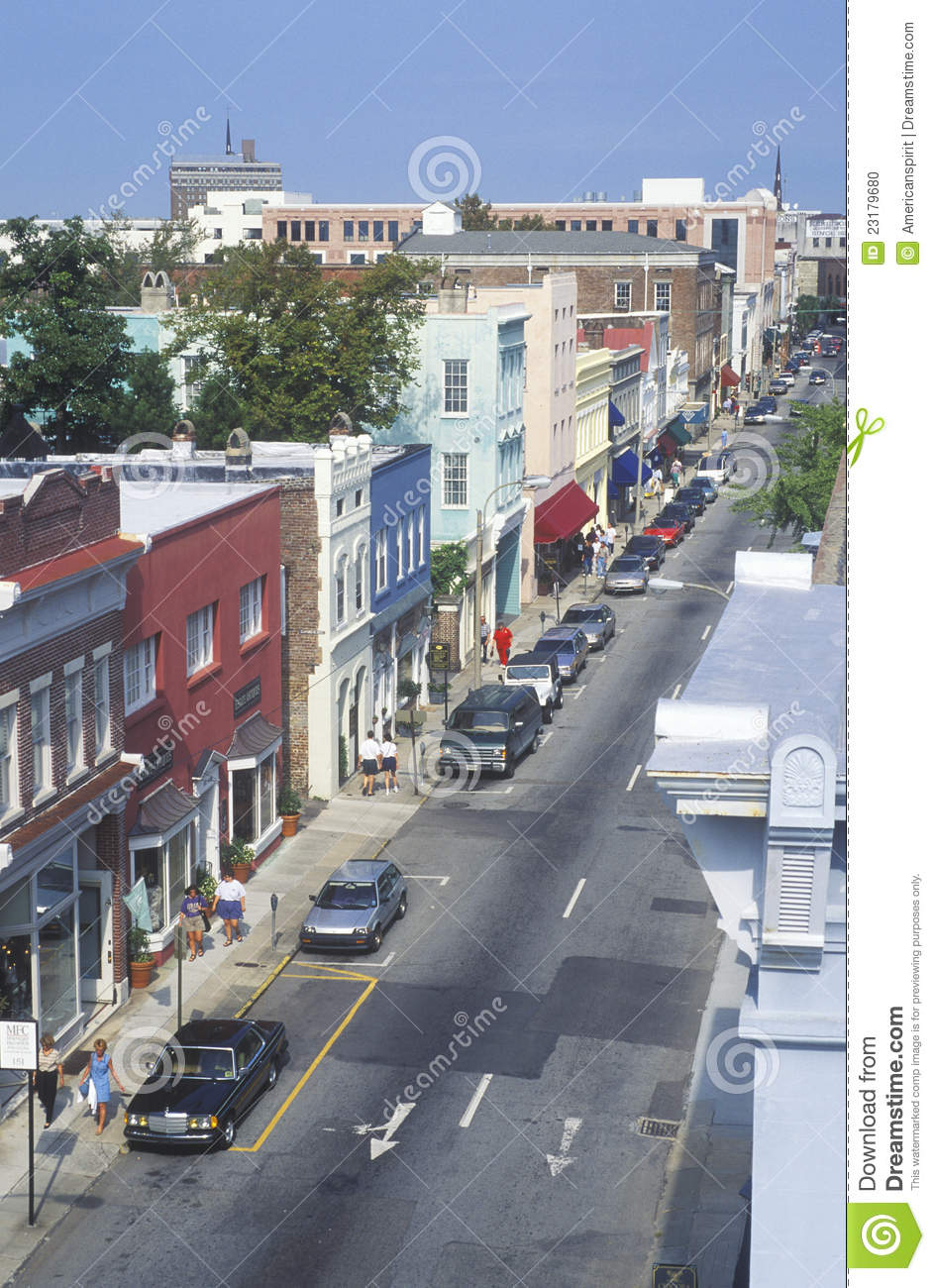 King Street In Historic Charleston Editorial Image Image