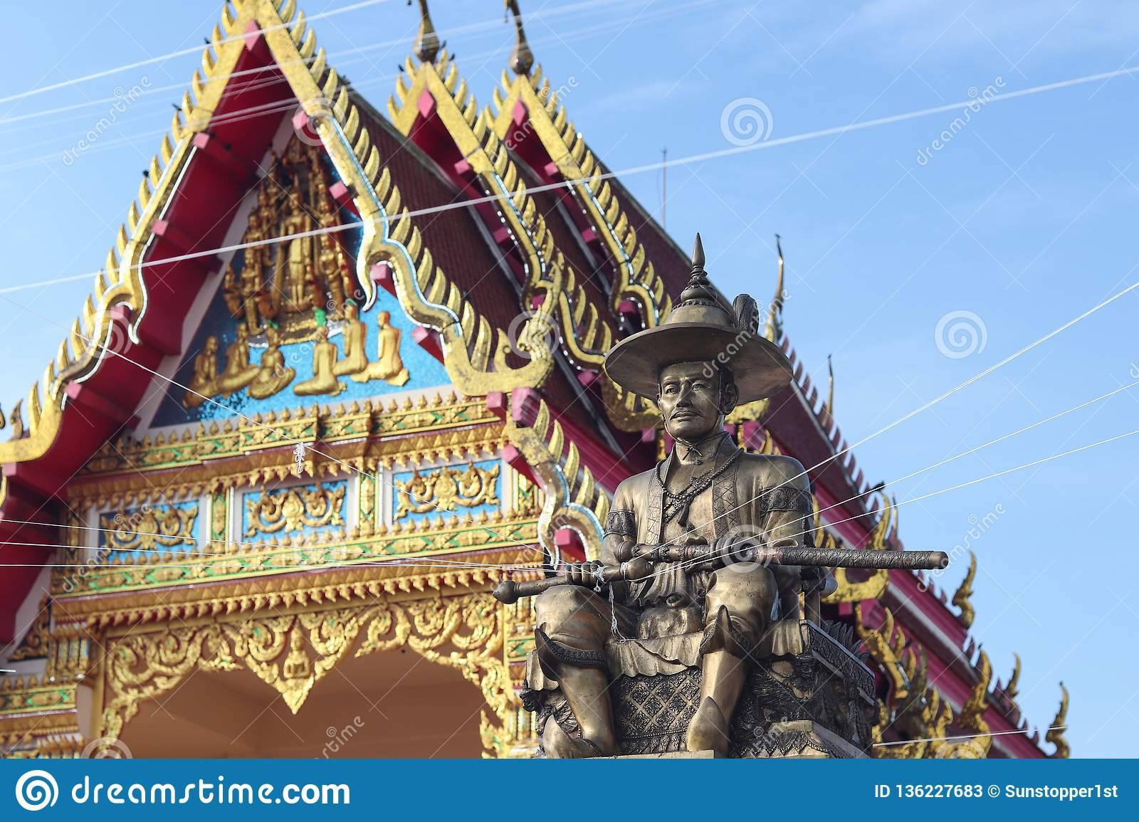 King Taksin the Great in Pattani province, Thailand