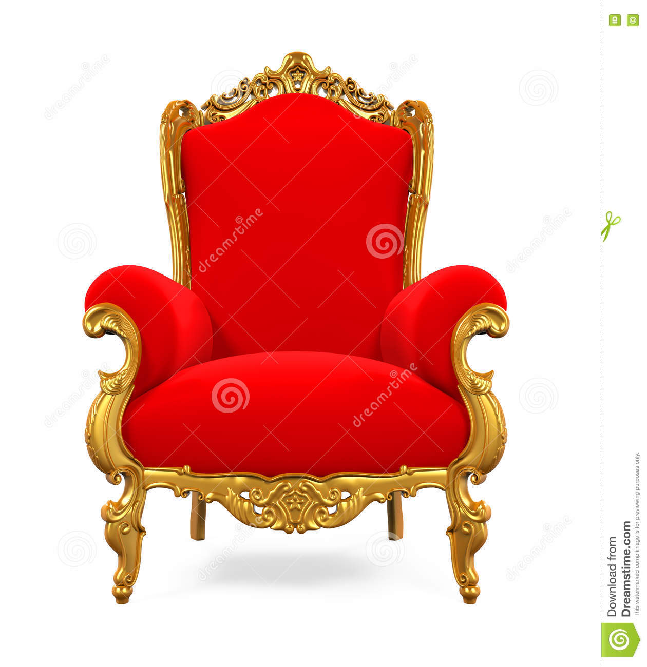 king throne chair stock illustration - image: 75617274