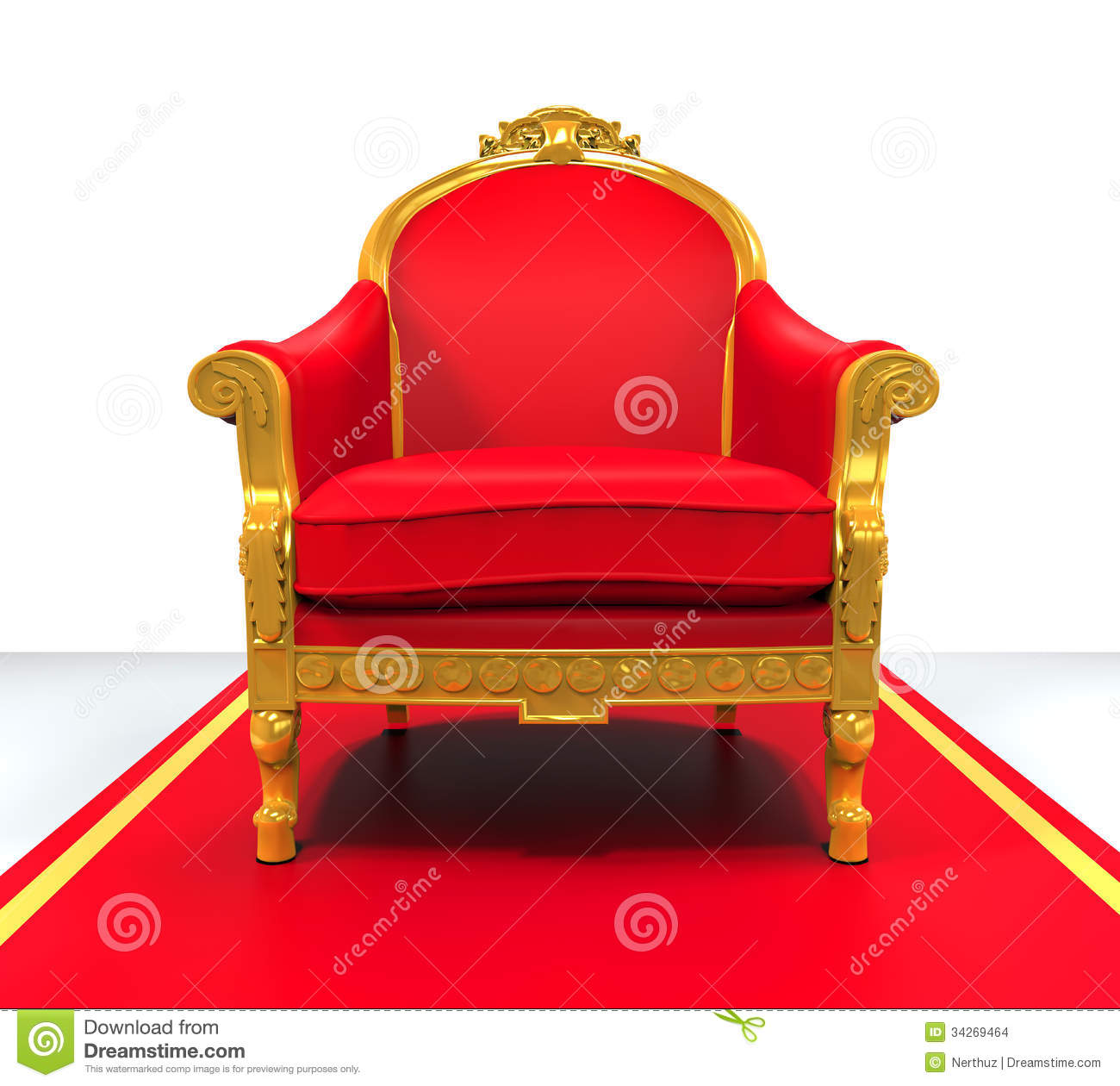 King Throne Chair Stock Illustration Image Of Cute