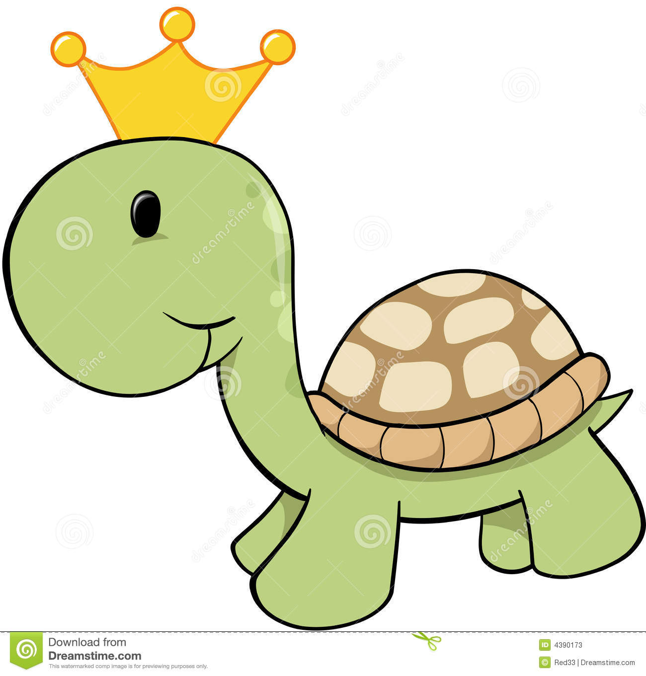 King Turtle Vector Stock Photos - Image: 4390173