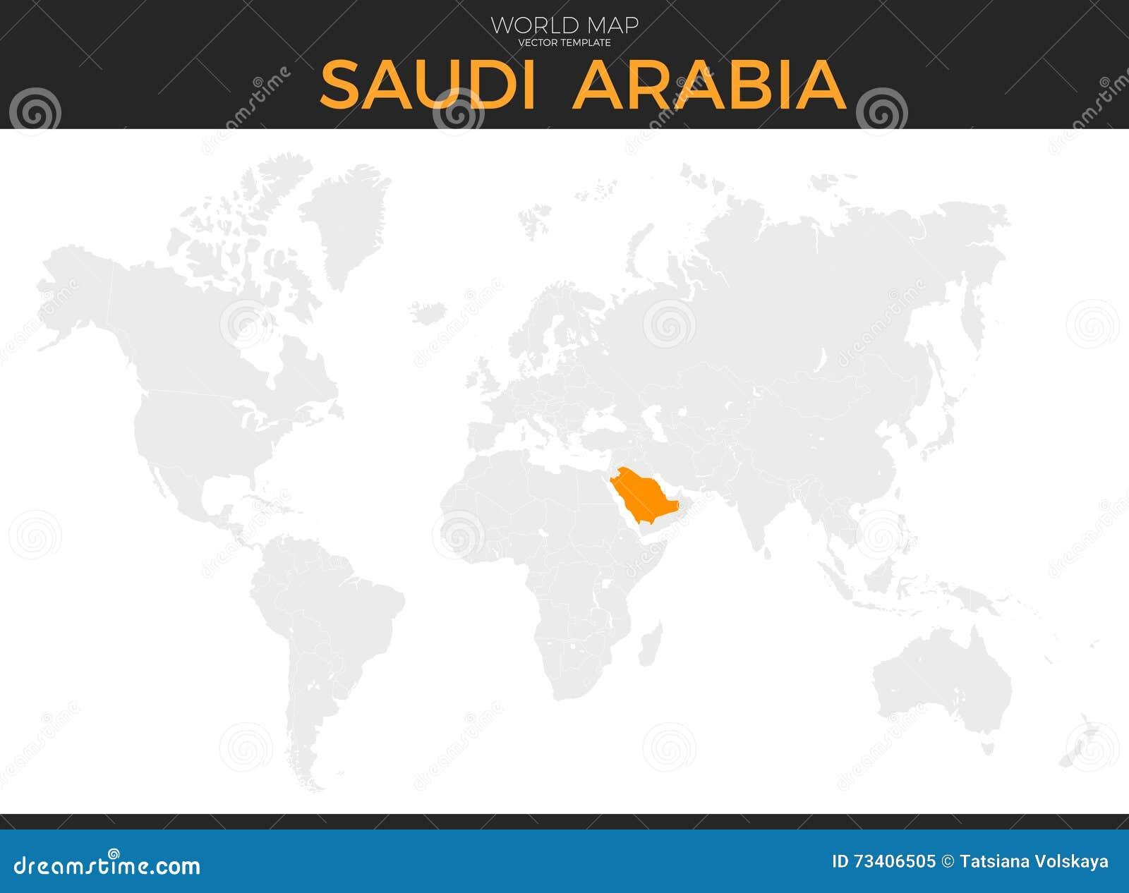 Kingdom Of Saudi Arabia Location Map Illustration 73406505 - Megapixl
