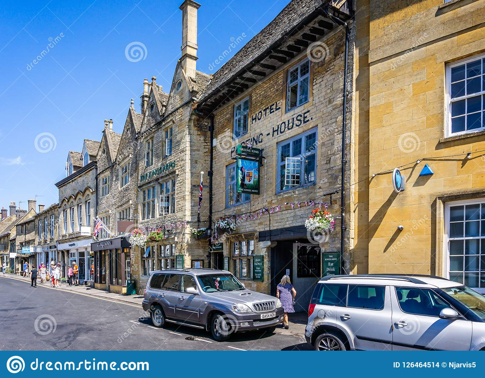 Kings Arms historic Inn in historic cotswold town of Stow on the Wold