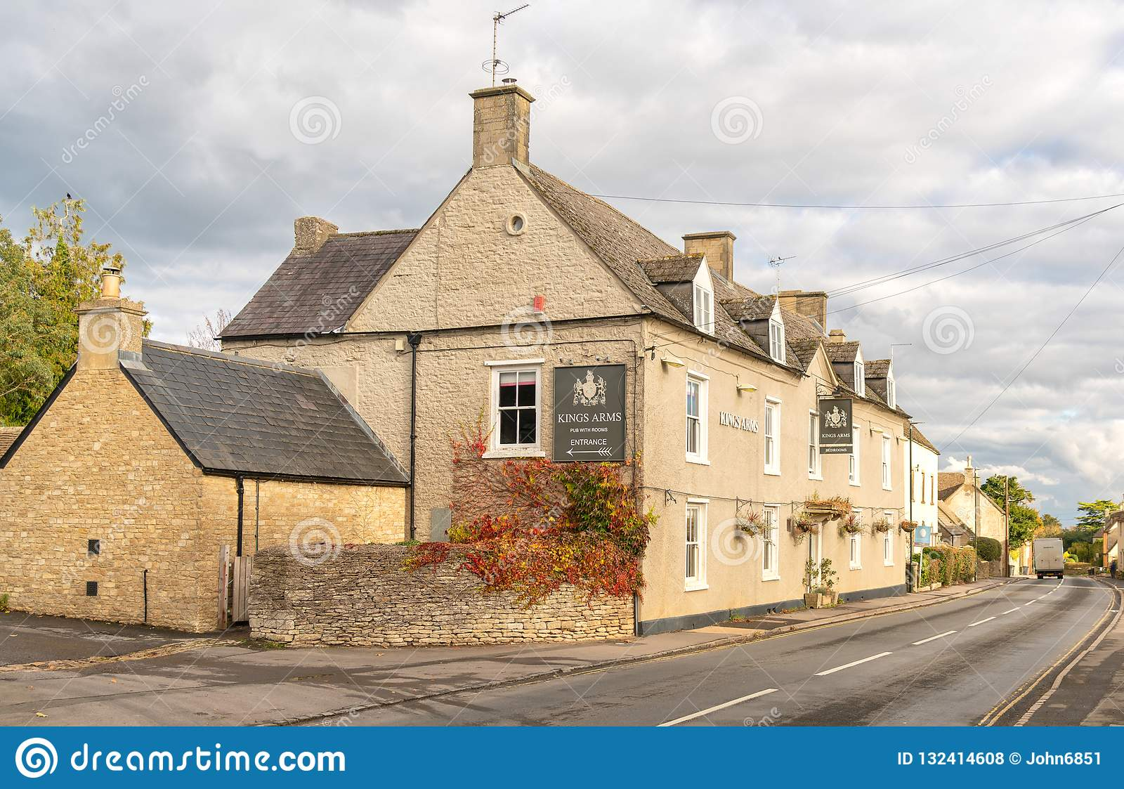 The Kings Arms public house in Didmarton, The Cotswolds, England