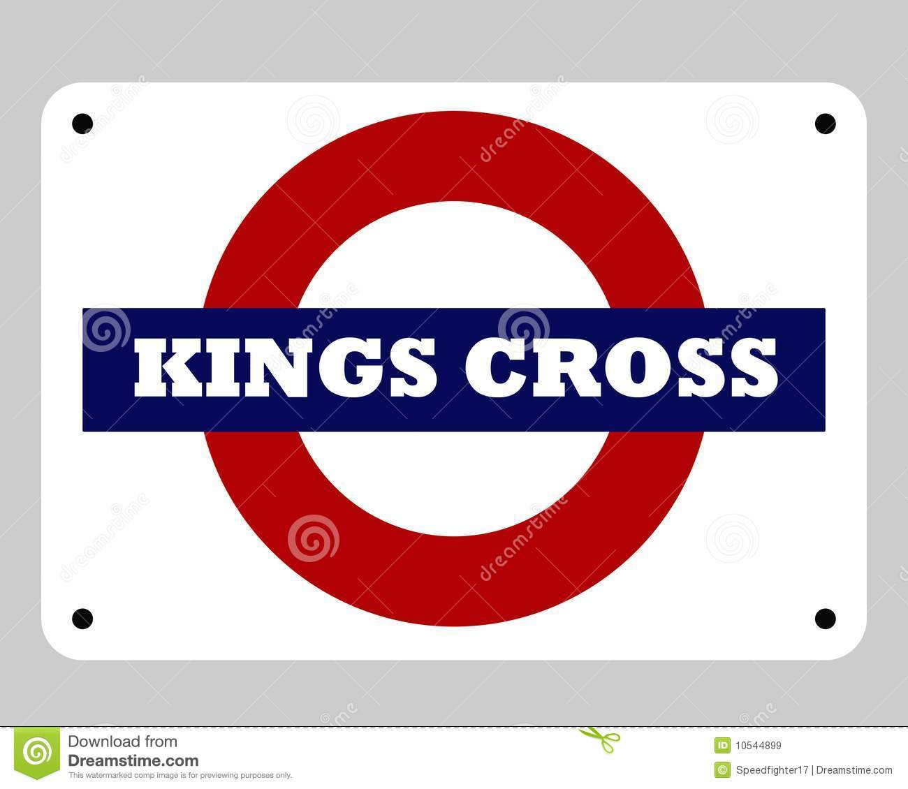 Kings Cross Underground Sign Editorial Stock Image Illustration Of