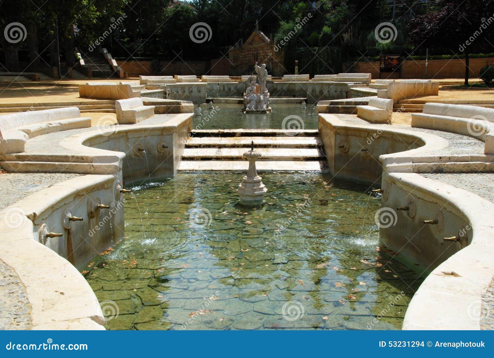 Kings Fountain Priego De Cordoba Stock Photo Image Of King