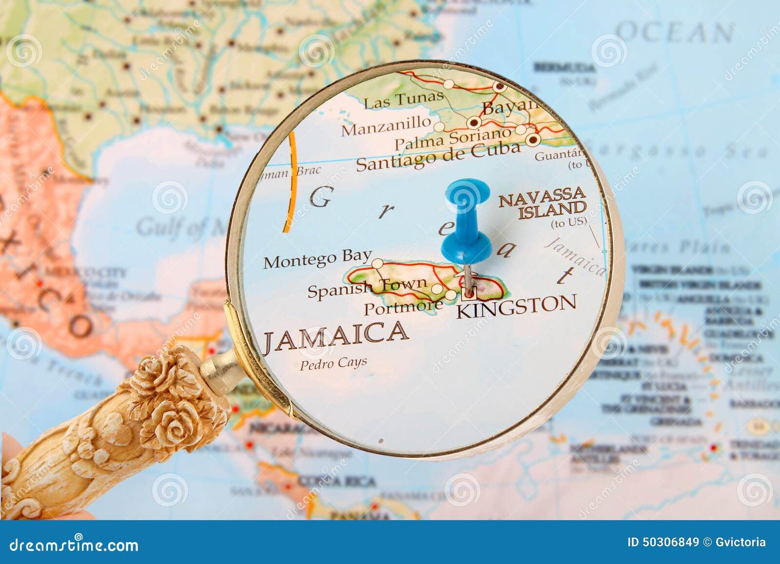 Kingston, Jamajka mapa