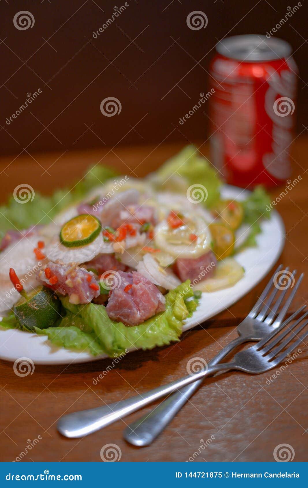 Kinilaw raw fish seafood dish native to the Philippines Filipino ceviche