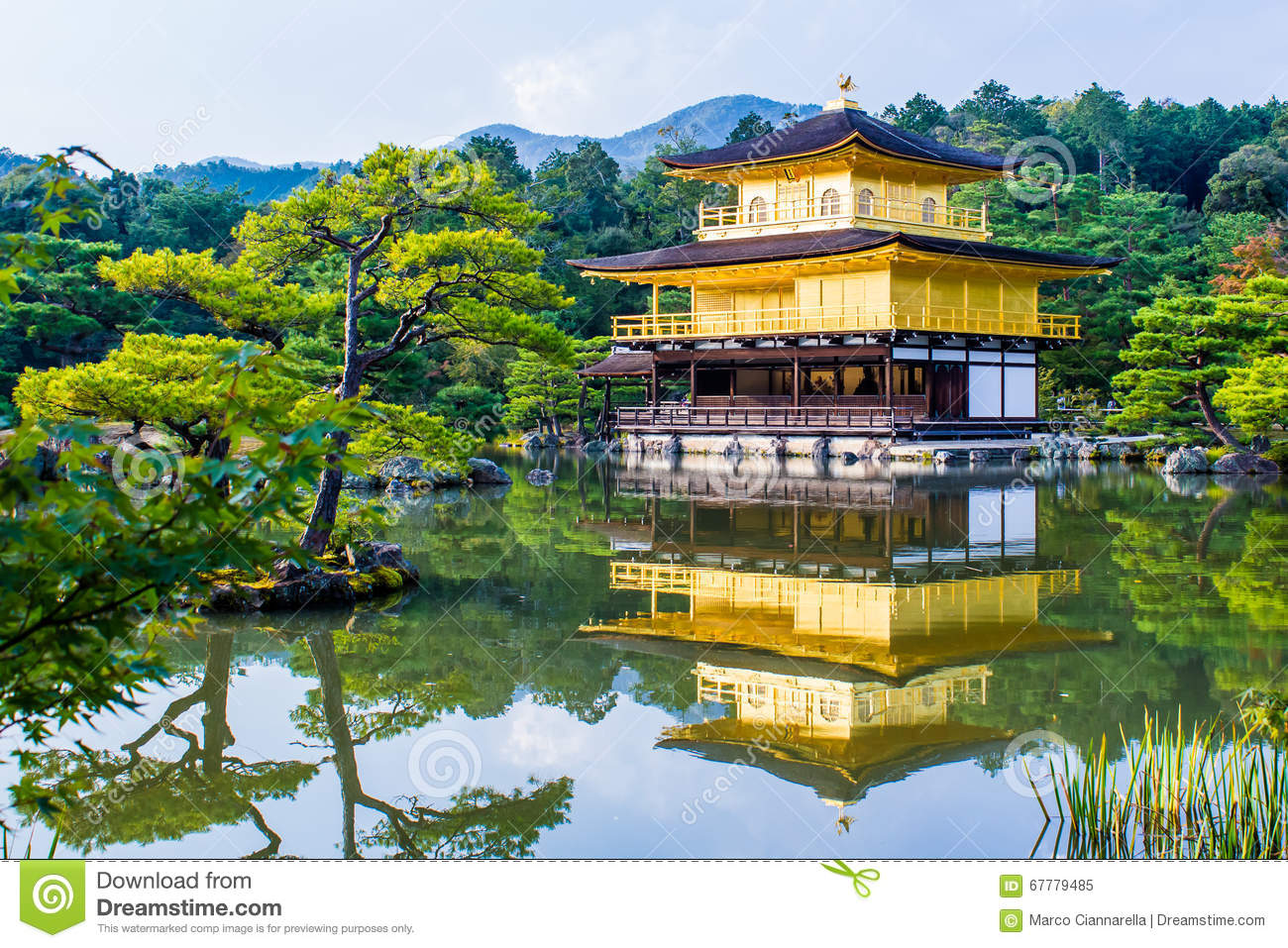 Kinkaku-ji, The Golden Pavilion in Kyoto, Japan