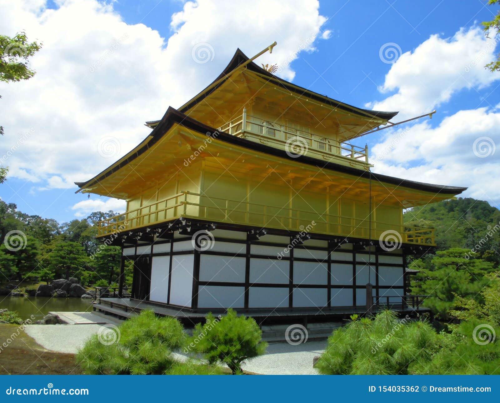 Kinkaku -kinkaku-ji, Zen Buddhist Temple in Kyoto, Japan