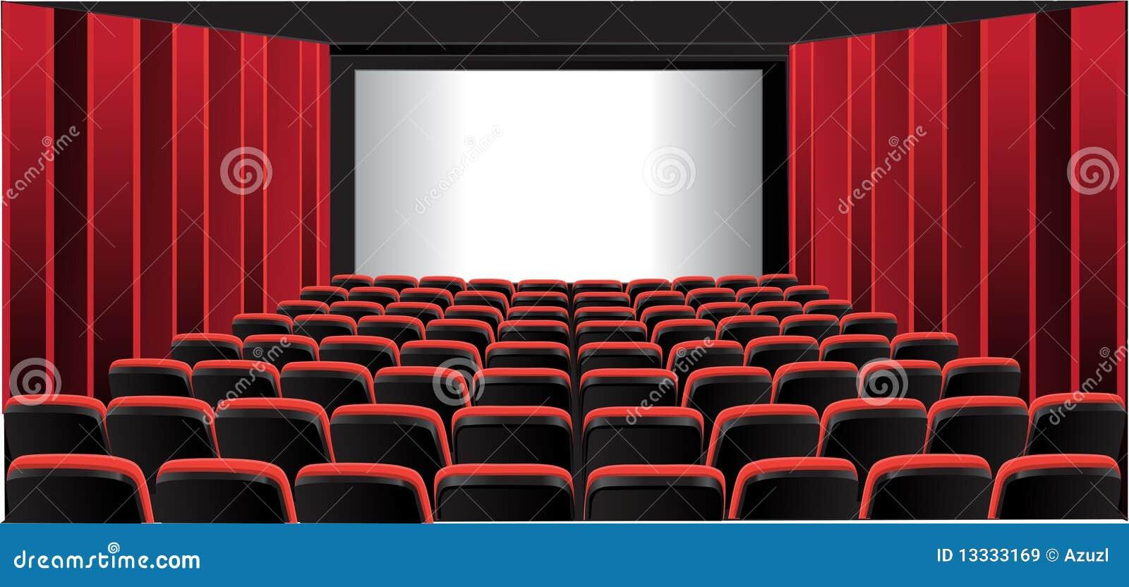 Kinowy czerwony izbowy seans