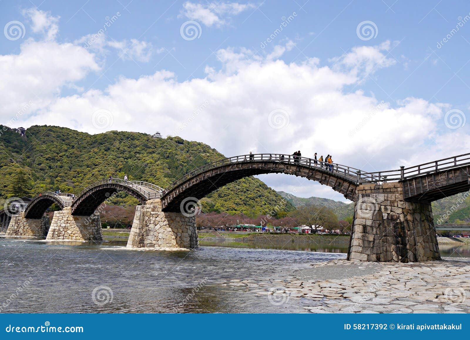 Kintai most w Iwakuni, Yamaguchi prefektura, Japonia