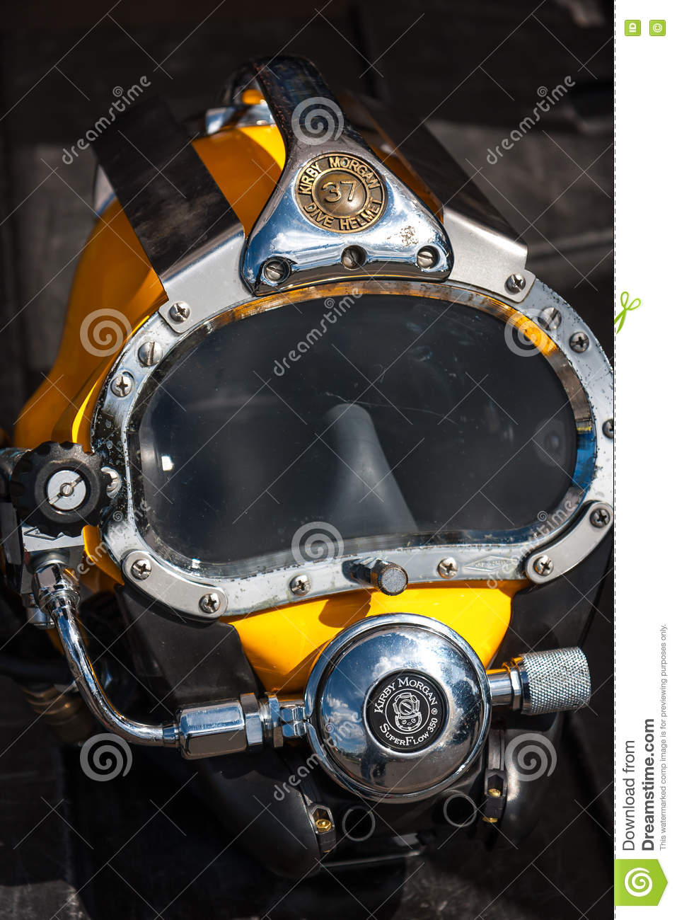 Kirby Morgan 37 Diving Helmet Closeup Editorial Photo