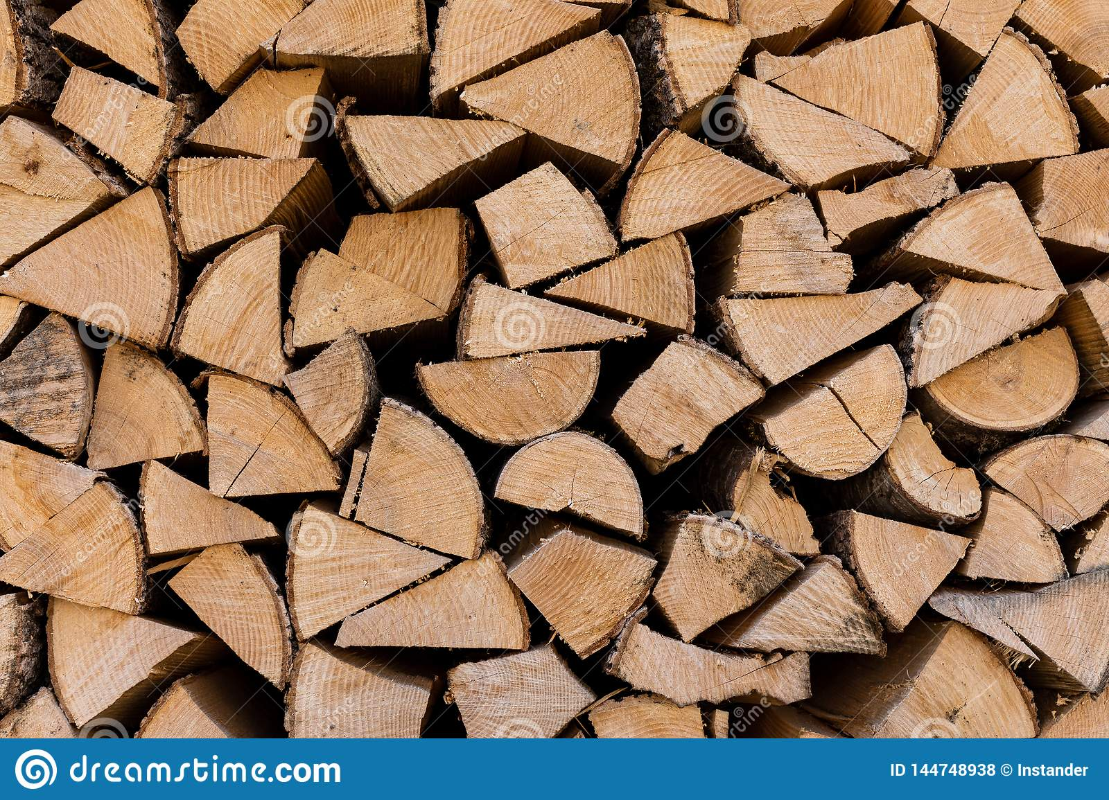 Kirchberg in Tirol, Tirol/Austria - March 24 2019: Wood stacked and waiting to be used for the fire place inside