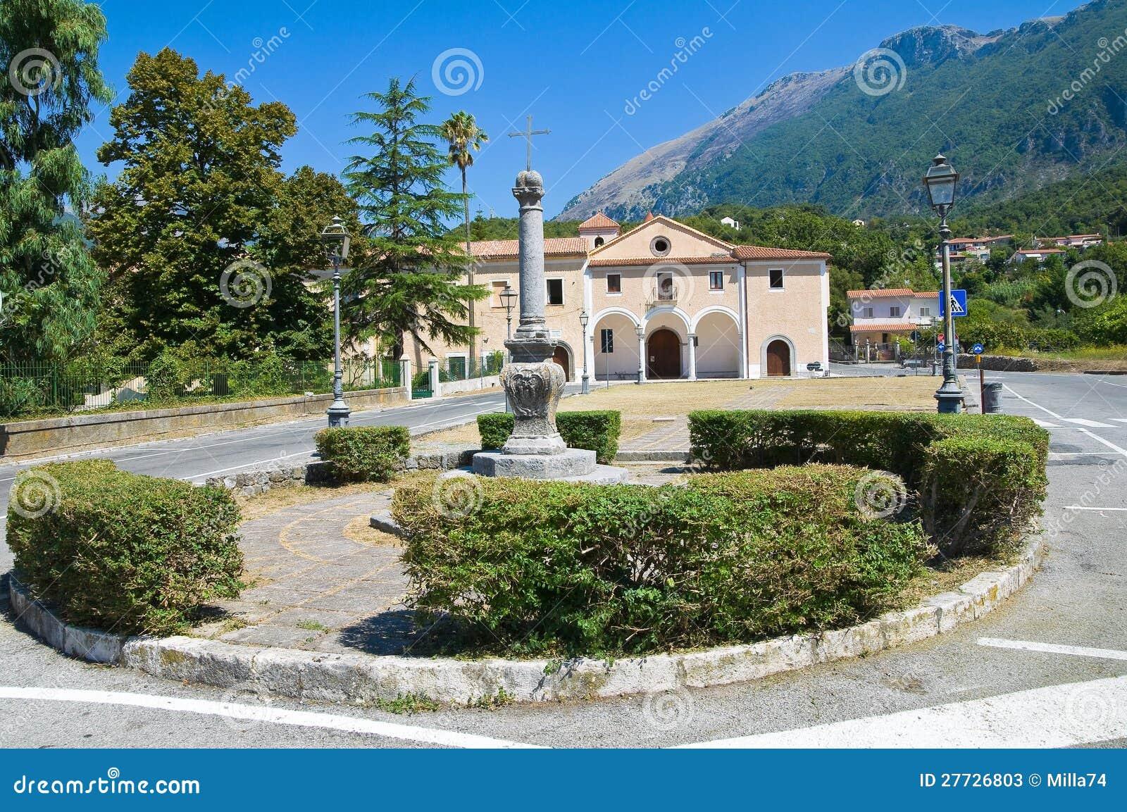 Kirche des Rosenbeetes. Maratea. Basilikata. Italien.