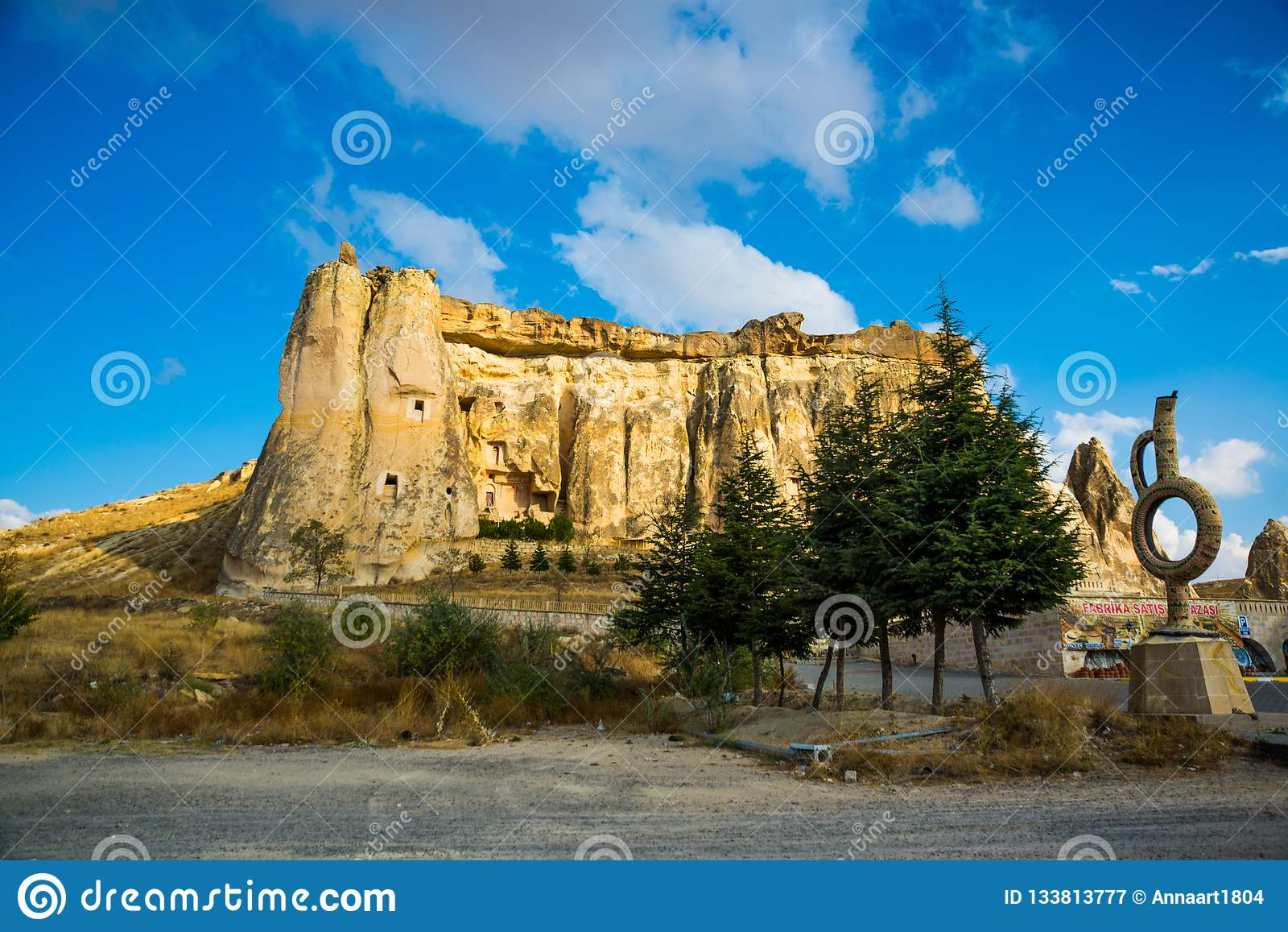Kirche Nikifor Fokas, Nikeforos Fokas Kilisesi, auch gekennzeichnet als Taube, Guvercinlik, Cavusin-Kirche Der alte Tempel ist