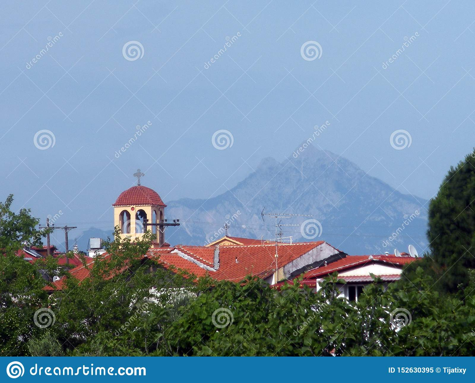 Kirche in Sarti und im Mount Athos, Griechenland