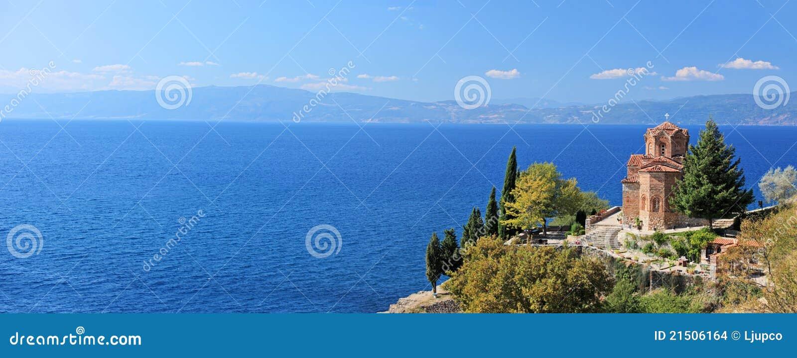 Kirche Str.-Jovan Kaneo, die Ohrid See übersieht
