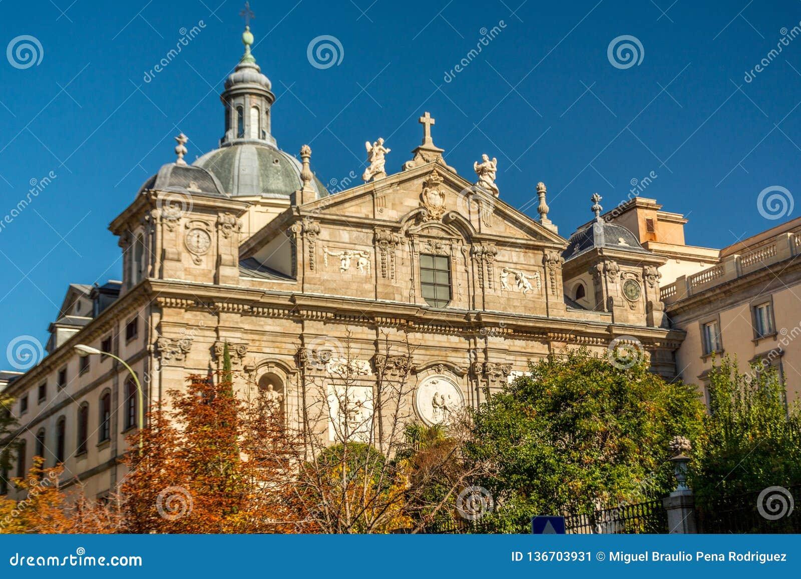 Kirche von ¡ Sankt BÃ rbara oder Kirche des Salesas Reales ist ein katholischer Tempel der spanischen Stadt von Madrid