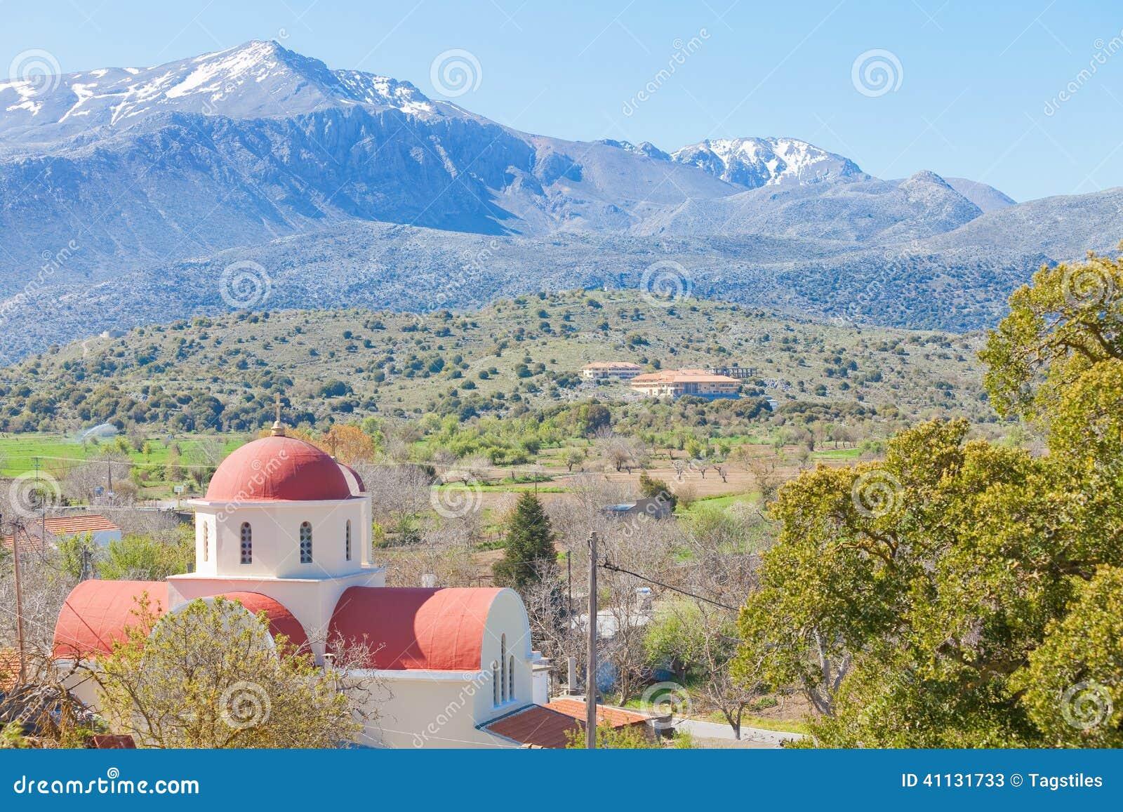 Download Kirche von Lassithi stockbild. Bild von kapelle, spitze - 41131733