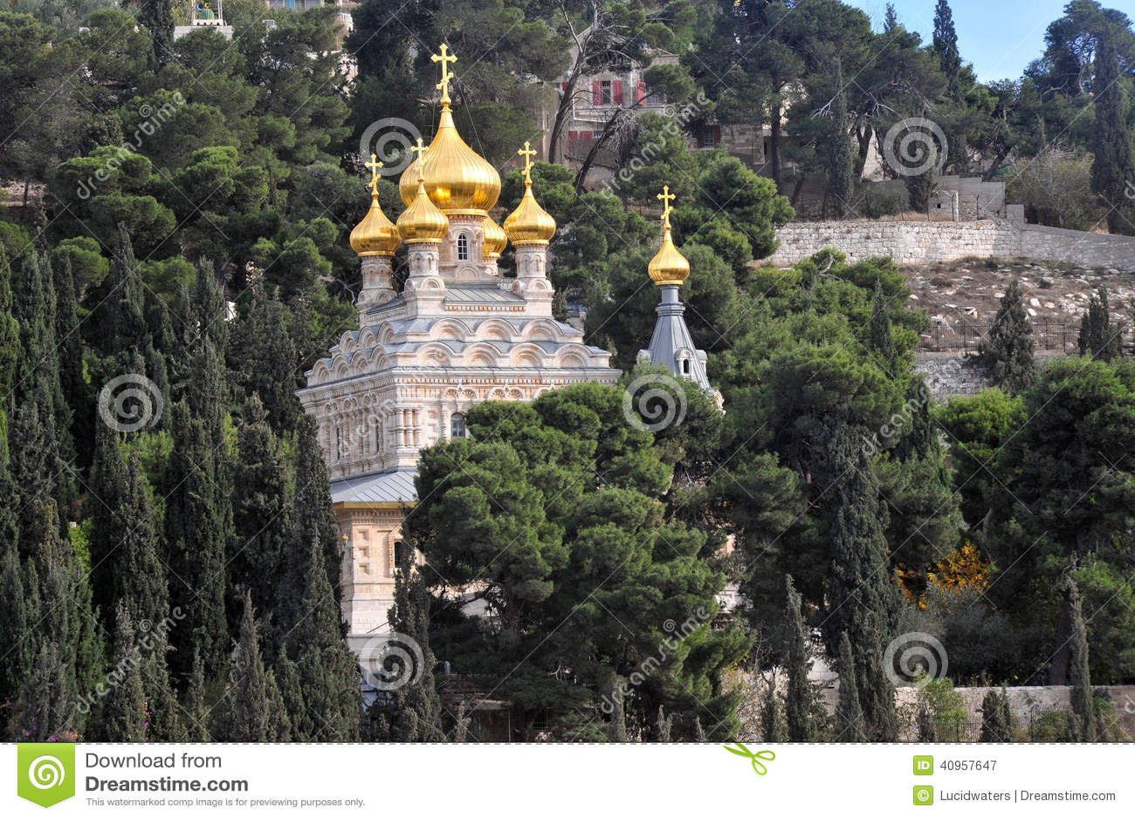 Kirche von Mary Magdalene im Ölberg in Jerusalem, Israel