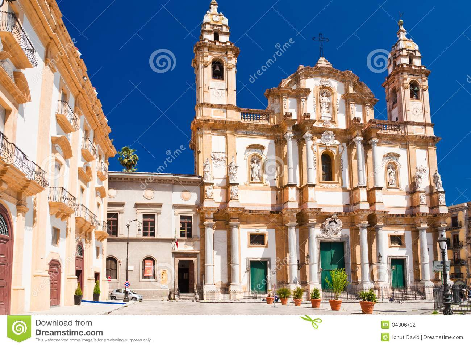 Kirche von St Dominic in Palermo, Italien