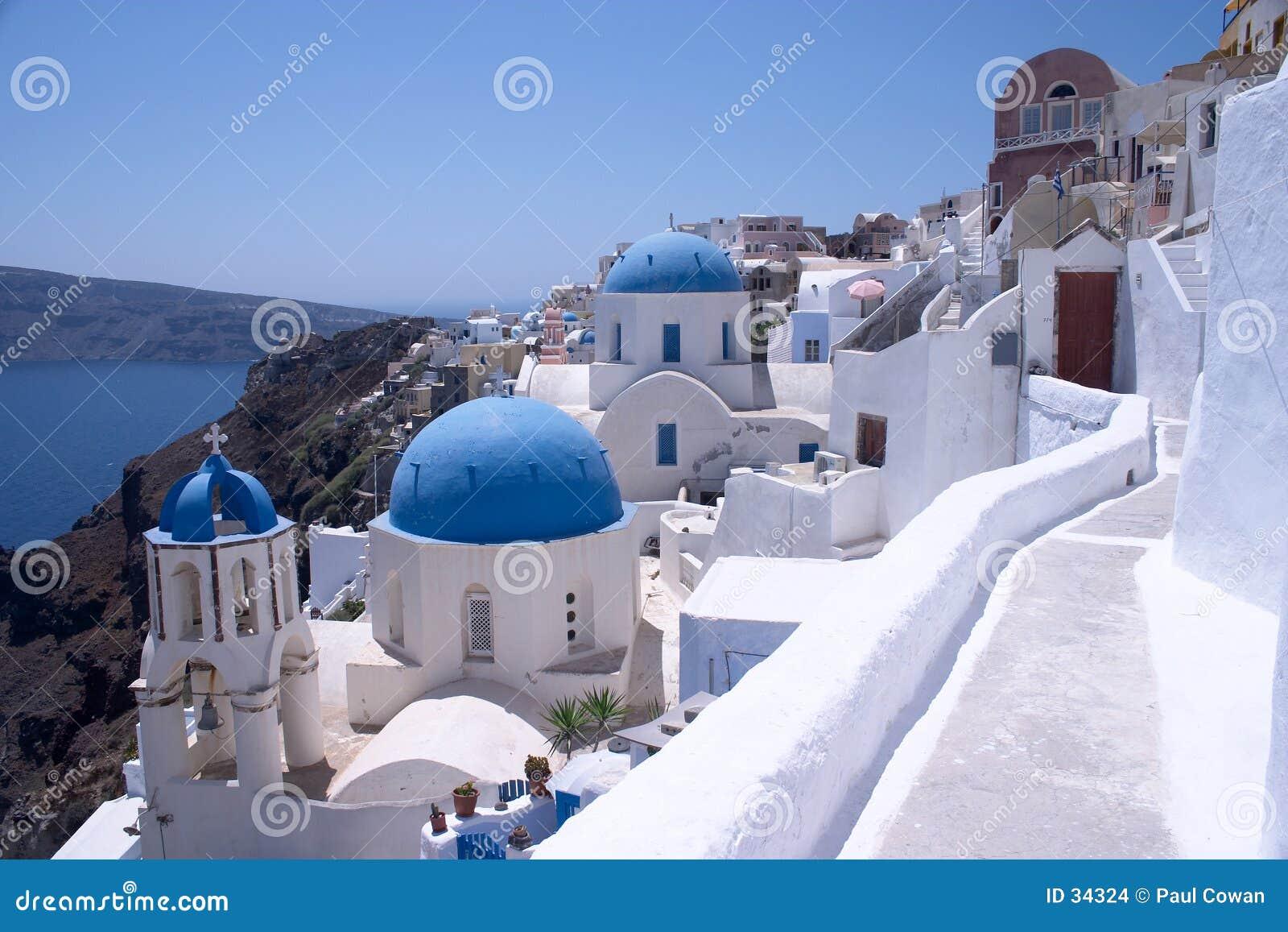 Kirchen in Oia, Santorini