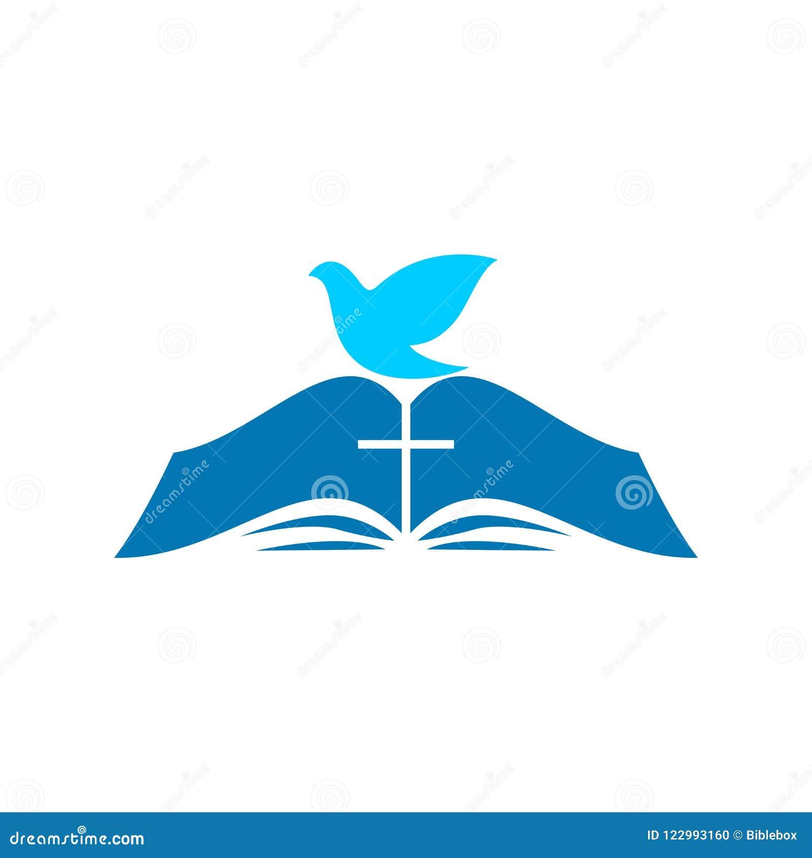 Kirchenlogo Die Bibel und die Taube