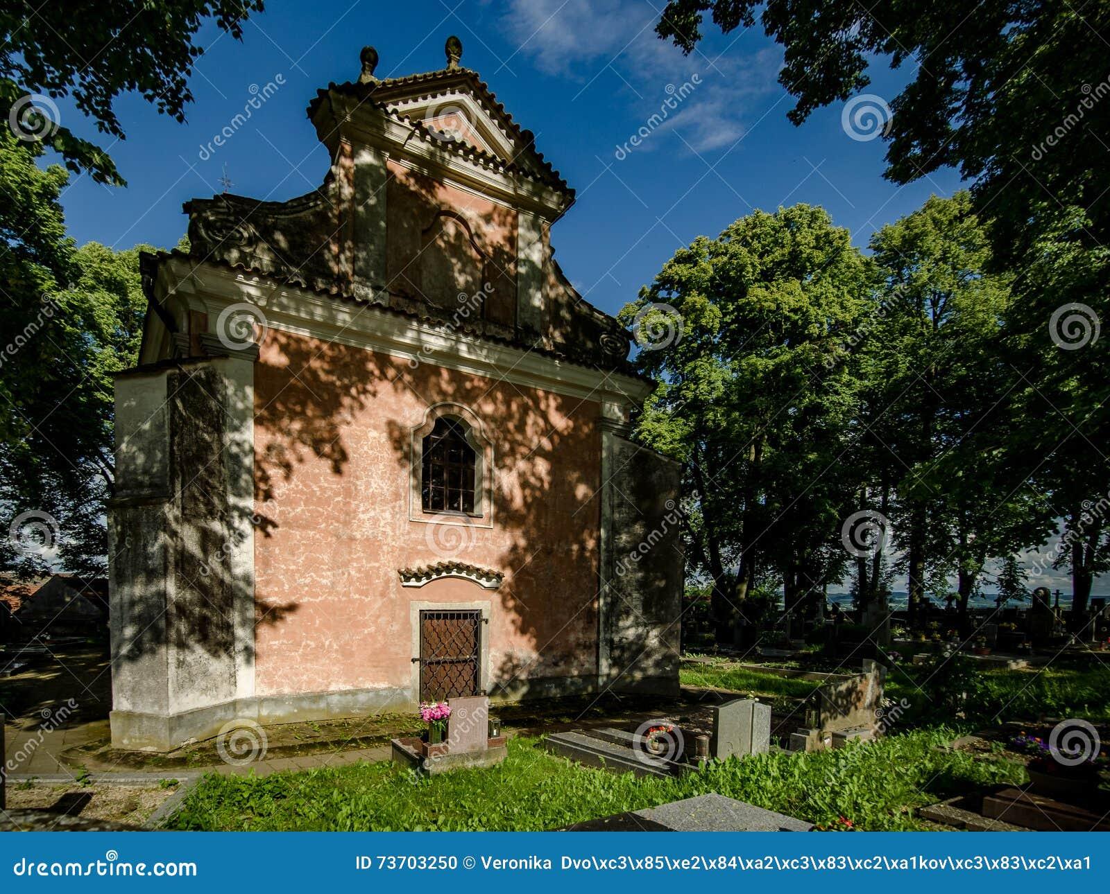 Kirchhof mit Kirche