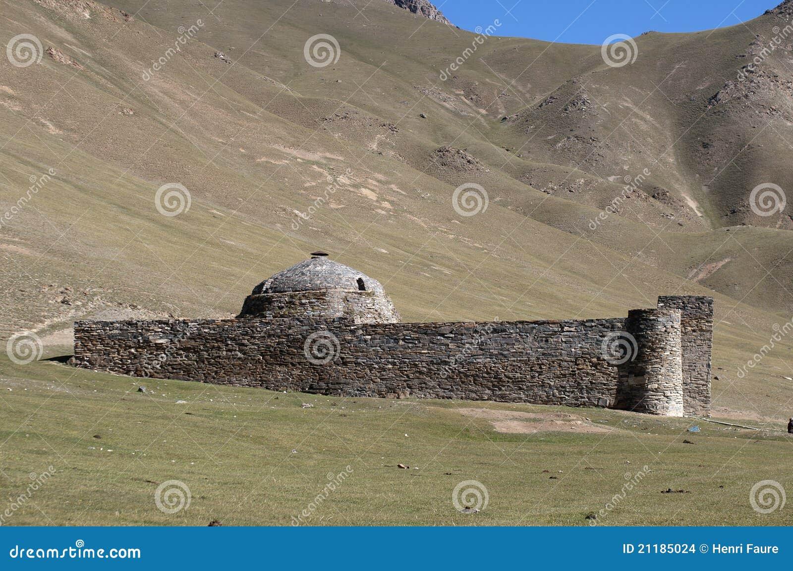 Kirgisistan rabat för slott tash