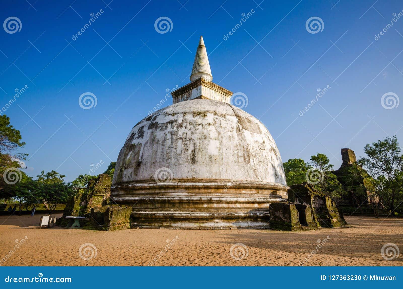 Kiri Vehera Dagoba, ciudad antigua de Polonnaruwa, sitio del patrimonio mundial de la UNESCO, Sri Lanka, Asia