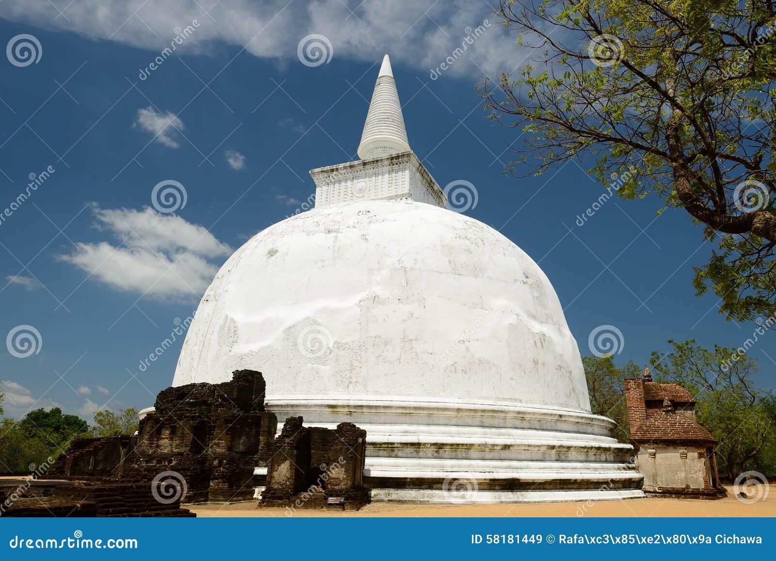 Kiri Vihara Buddhist Stupa en Polonnaruwa, Sri Lanka