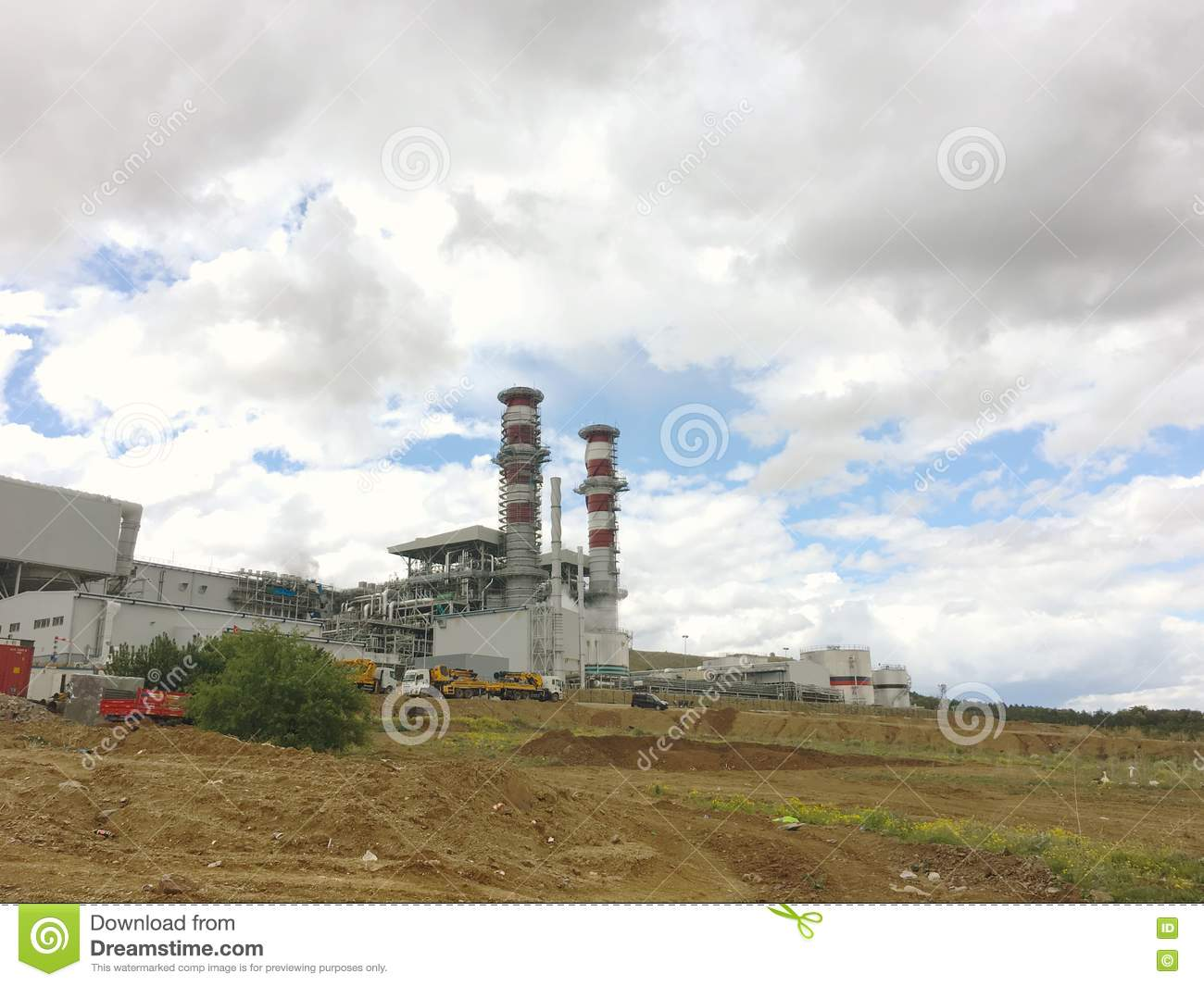 Kirikkale Natural Gas Combined Cycle Plant, Yahsihan.Power plant is a 950MW plant being construct