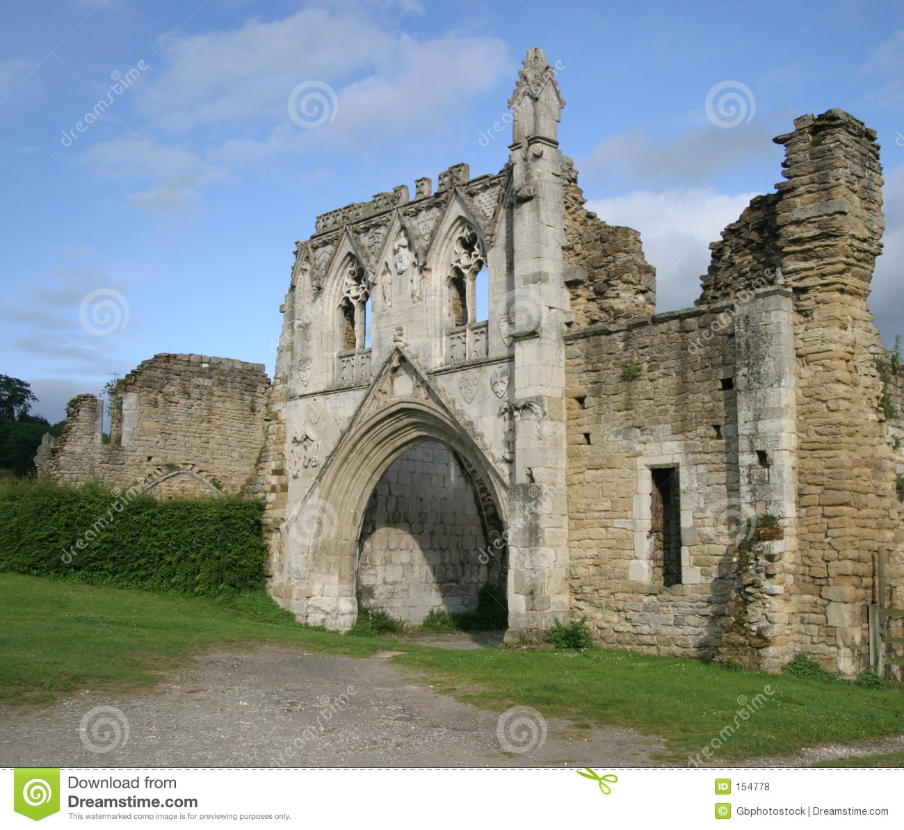 Download Kirkham Priory stock photo. Image of gate, entrance, window - 154778