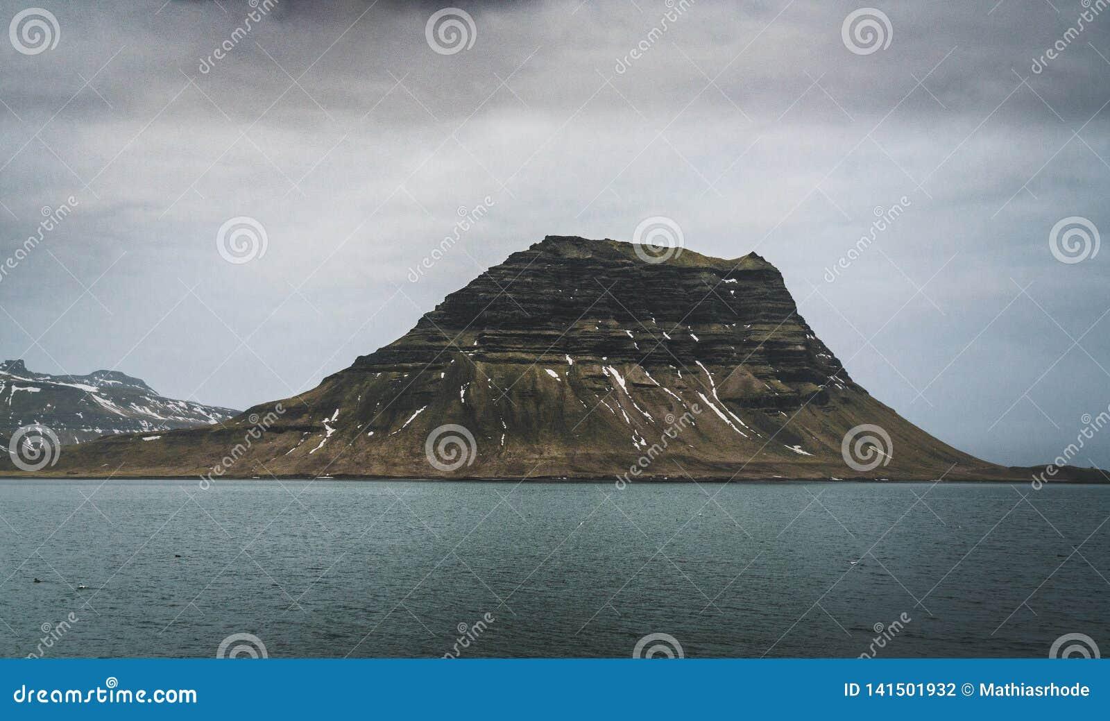 Kirkufell Mountain Church Mountain in English overlooking Grundarfjordur Bay on the Snaefellsnes Peninsula in western
