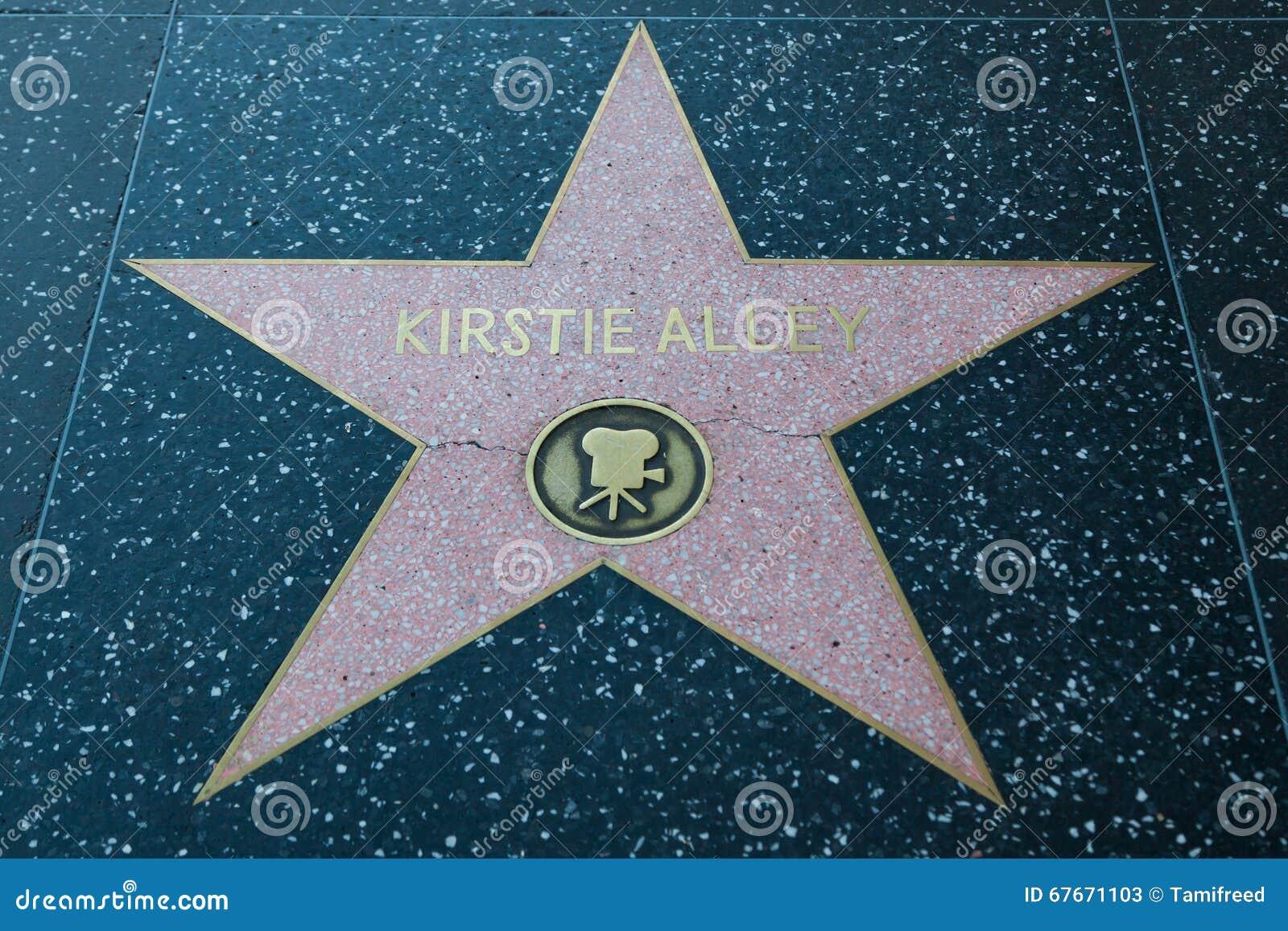 Kirstie Alley Hollywood Star