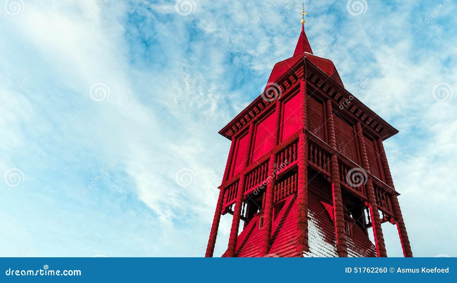 Kiruna kościelny dzwonkowy wierza