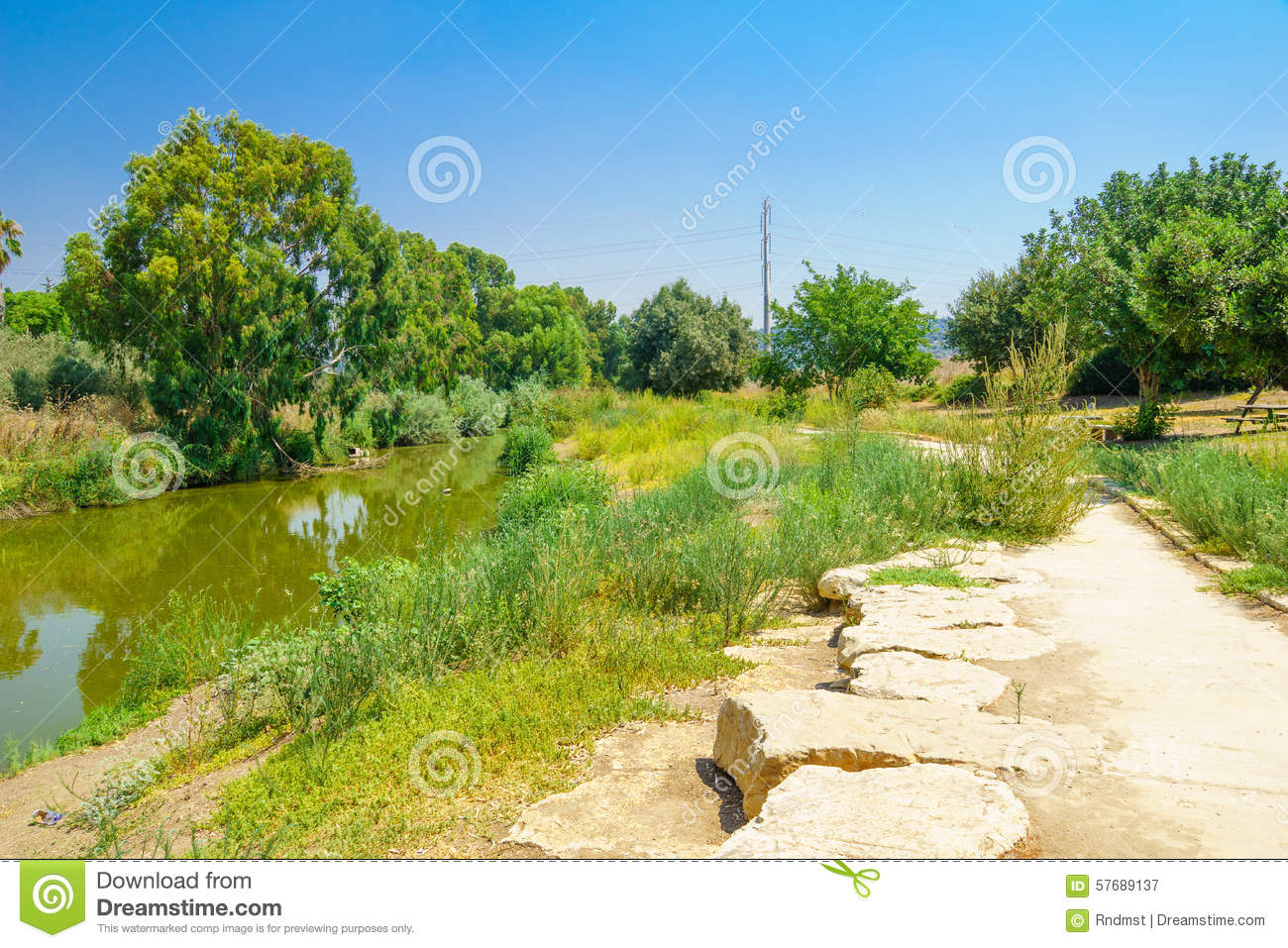 Download Kishon Park (HaAmakim Park) Stock Image - Image of outdoor, blue: 57689137