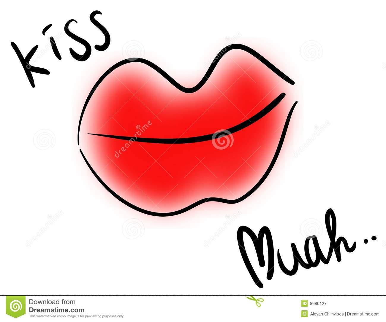 Big red lips clipart