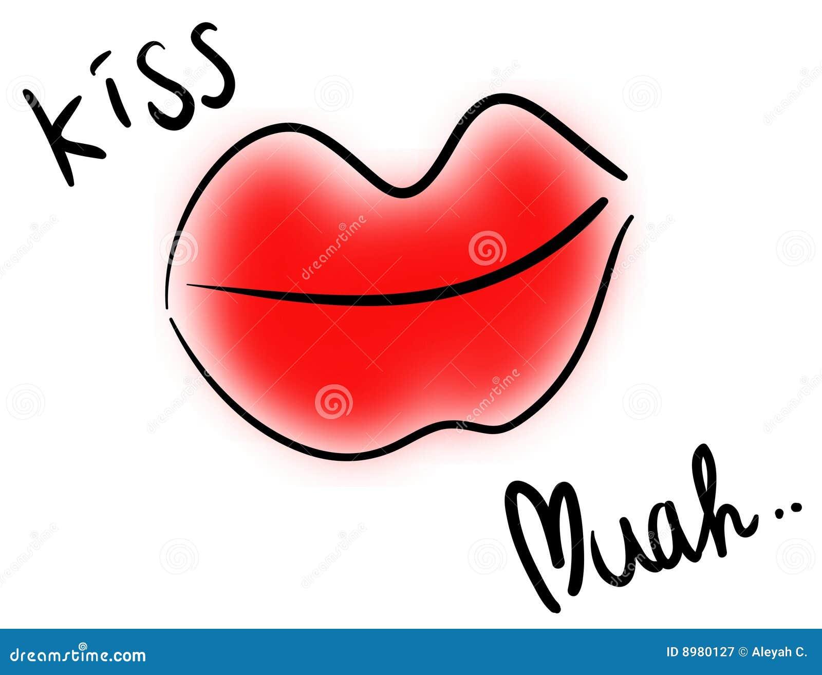 Kiss stock vector  Illustration of postcard, valentine - 8980127