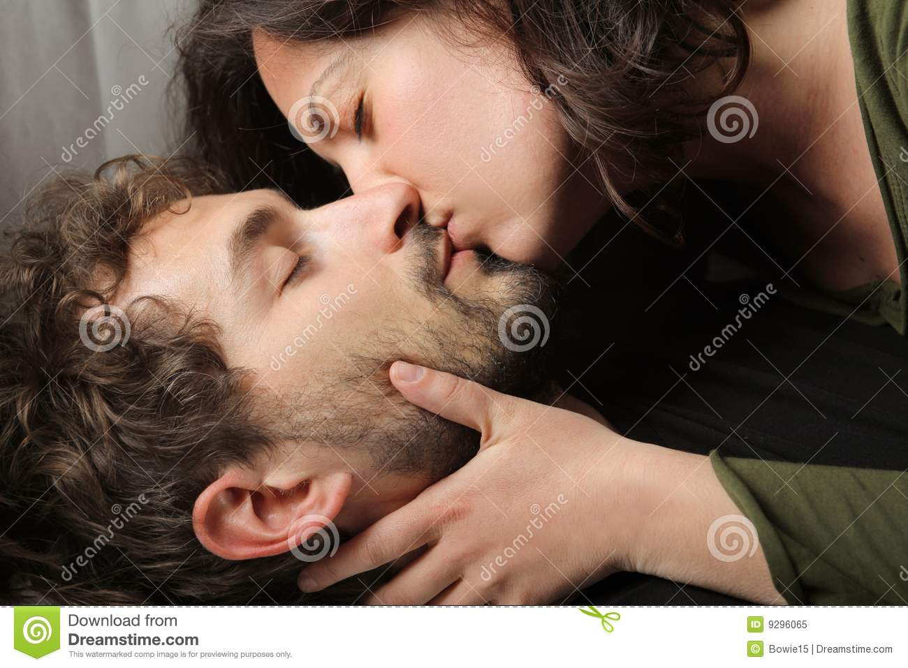 Kiss stock image  Image of conquest, tender, passion