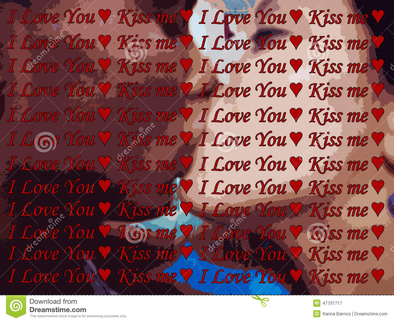 I Love You And Kiss Wallpaper : Kiss Me Now Stock Photo - Image: 47701717