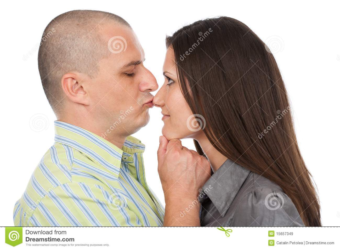 Kiss on the nose stock image. Image of happy, casual ...